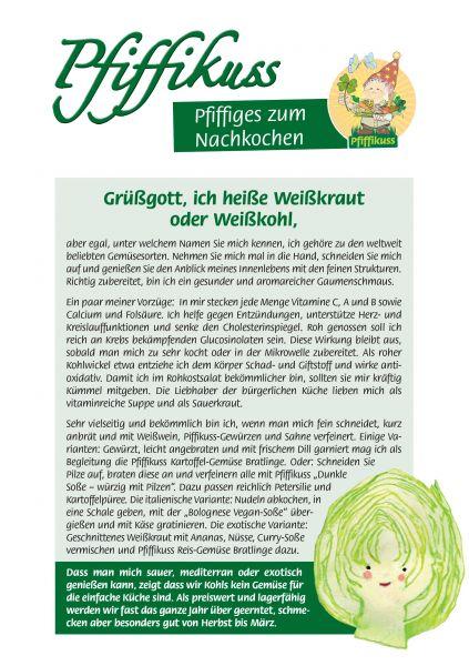 Sammelrezept Weißkraut / Weißkohl