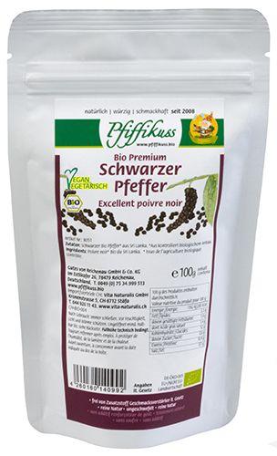 Schwarzer Pfeffer Bio 100g Nachfüllbeutel