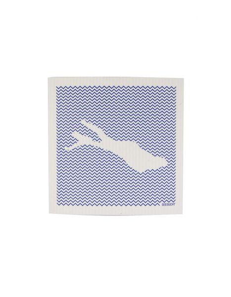 Schwammtuch Bodensee blau flächig