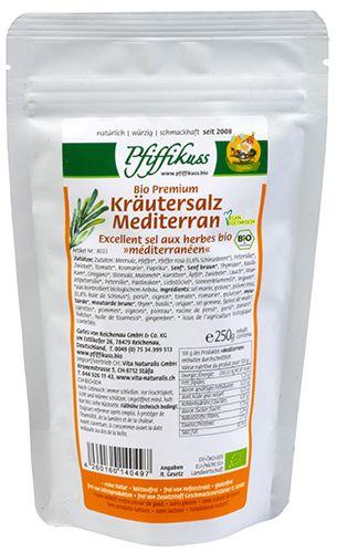 Bio Kräutersalz Mediterran 250g
