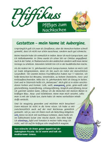 Sammelrezept Aubergine
