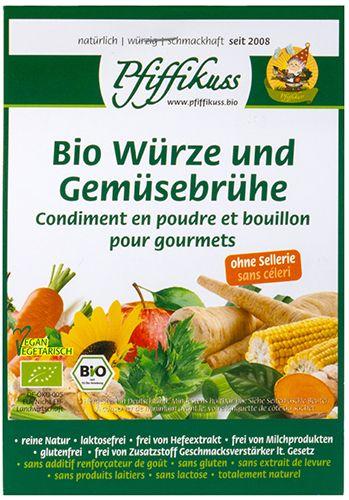Bio Würze und Gemüsebrühe ohne Sellerie